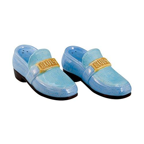 (Vandor 47032 Elvis Presley Blue Suede Shoes Ceramic Salt and Pepper Set)