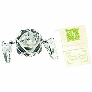 Melissa Frances Double Clip Decorative Hangers, Flower