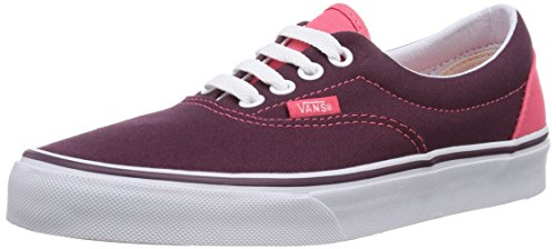 Vans Top P Low Pop Red Heel Trainers Adults' Bordeaux Unisex Era Fig Rose aTqxBwUarn