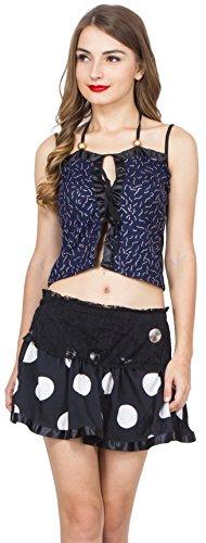 W for Woman WWTopSep17-43 Women's Party Fashion Tops (BlueThread, Medium)
