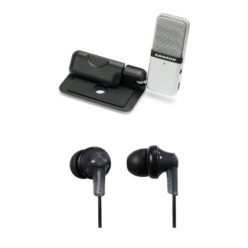 Samson Go Mic Bundle with In-Ear Headphones