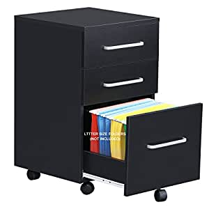 Amazon Com Devaise 3 Drawer Wooden File Cabinet With