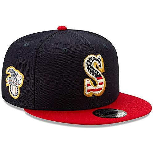 (New Era Seattle Mariners 2019 Stars & Stripes 4th of July 950 9FIFTY Snapback Adjustable Cap)