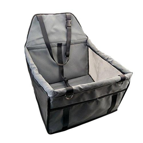 Freerun Collapsible Car Pet Sleeping Bag Dog Seats Portable Pet Dog Car Booster Seat (Gray)