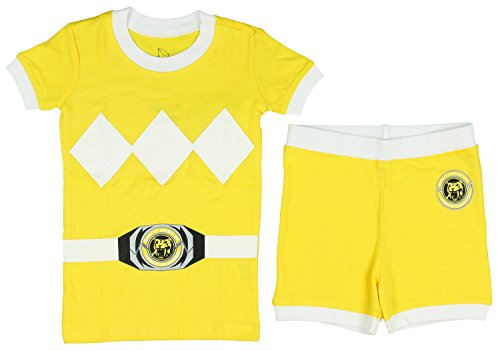 [Power Rangers Toddler Character Cotton Pajamas (Yellow, 5T)] (Yellow Samurai Ranger Costume)