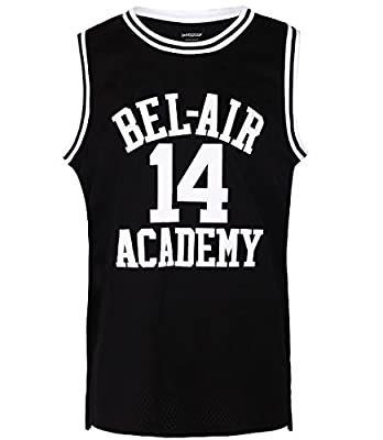 JOLI SPORT The Fresh Prince of Bel Air Basketball Jersey #14 Will Smith Academy Jersey S-XXXL Black