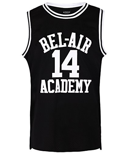 JOLI SPORT Smith #14 Bel Air Academy Black Basketball Jersey S-XXXL (Medium)