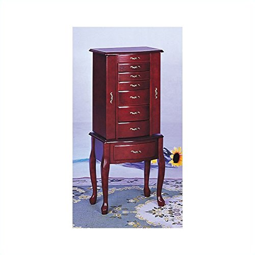 Salmon Deluxe Jewelry Armoire with Mirror by Coaster Home Furnishings (Image #2)