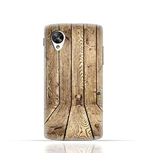 LG Nexus 5 TPU Silicone Case with Wood Texture Old Panels Pattern