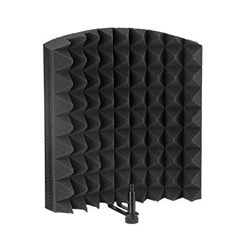 Aokeo - Panel aislante de micrófono de alta calidad, plegable, ajustable, para grabación, micrófono de estudio, fabricado...