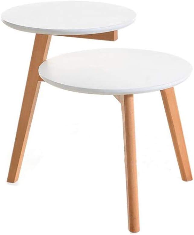 Oprecht JCNFA BIJZETTAFEL Living Room Table Sets, Nesting End Tables, Bank & Console Tafels, 3 Kleuren (Color : Wood color) White QGmjXWL