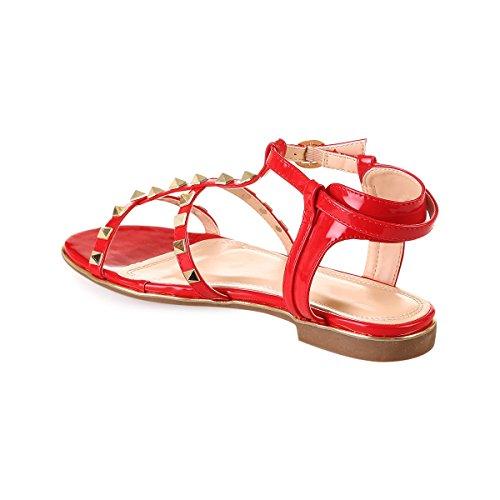 Plates Sandales La Rouge Vernies Modeuse nYUznqwC