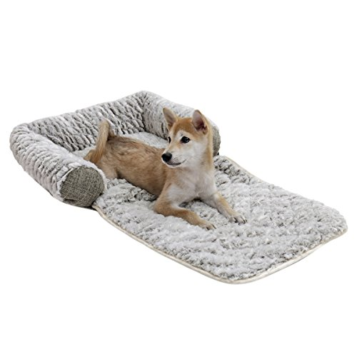 PAWZ Road Dog Bed, 3 in 1 Pet Mat Cushion Small/Medium Dogs Cats-Snuggly Orthopedic Sleeper More Filling on 3 Sides-Nonslip Waterproof Bottom S