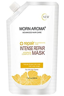 MORN AROMA Hair Repair Mask Hair Treatment 500ml, Best Professional Moisturizer And Deep Conditioner For Damaged, Dry, Brittle