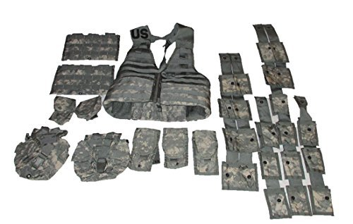 US Military ACU Tactical ACU Camo FLC LBV Molle II Fighting Load Carrier Vest Rifleman & Grenadier ()