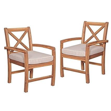 Amazon.com: pemberly fila X-Back silla de jardín con cojín ...