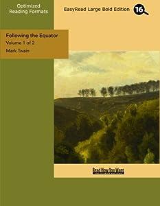 Paperback Following the Equator [Large Print] Book