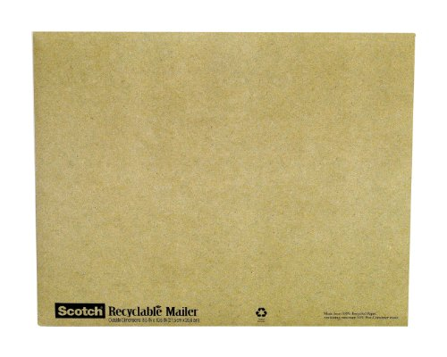 Scotch Padded Mailer, 8 Inches x 10 Inches, Recyclable Mailer, 10-Pack (6914)