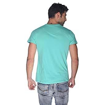 Creo Green Beard Skull T-Shirt For Men - L, Green