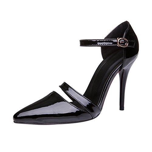 Voet Dames Damesschoenen Met Hoge Hak Stiletto Mary Jane Pumps Zwart