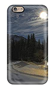 Christopher B. Kennedy's Shop 2096887K96658227 Iphone 6 Hard Back With Bumper Silicone Gel Tpu Case Cover Cold Moon House