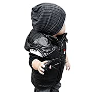 Cute Boy Girl Trendy Baby Toddler Hat Knit Beanie Warm Winter Cap,Grey, One Size
