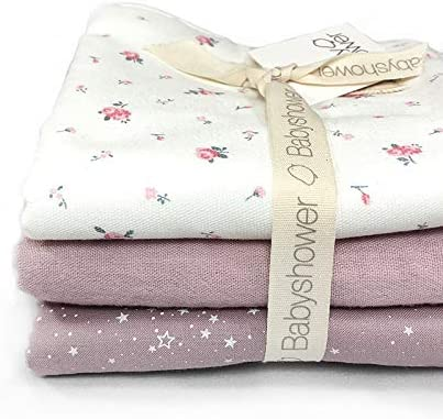 Pack de Toallitas de Algodón para Bebé Pink