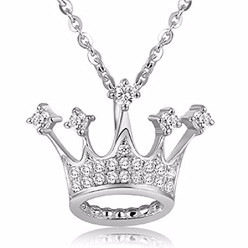 Mirabella 925 Sterling Silver Queen's Crown Necklace