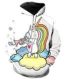 KIDVOVOU Girls Unicorn Pullover Hoodie Teens Hooded Sweatshirts with Pocket 3-12T,Music Unicorn,9-10 Years
