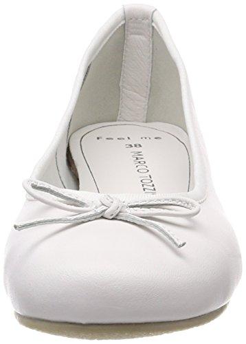 Tozzi 22117 Premio Blanco para Mujer Bailarinas Marco White OPUwSS