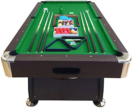 SIMBASHOPPING USA 8 Feet Billiard Pool Table with Automatic Ball Return System Snooker Full Set Accessories Game Vintage Green 8FT