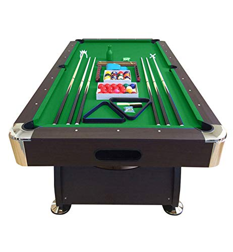 - SIMBASHOPPING USA 8' Feet Billiard Pool Table with Automatic Ball Return System Snooker Full Set Accessories Game Vintage Green 8FT