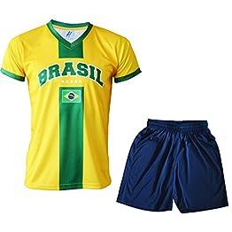 A chacun son Pays Maillot + Short BRESIL - Football - Taille Enfant garçon