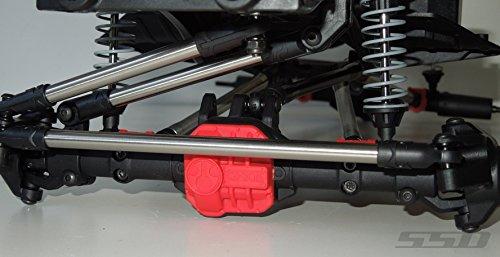 SSD RC HD Titanium Steering Link Set for SCX10 II