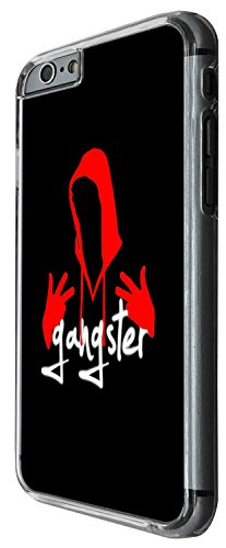 1458 - Cool Fun Trendy hoody red hood gangsta rapper rnb music street Design iphone 6 6S 4.7'' Coque Fashion Trend Case Coque Protection Cover plastique et métal - Clear