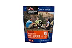 Spice up your outdoor menu with the Mountain House Mexican Style Rice and Chicken meal.