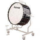 """Ludwig 14"""" x 28"""" Concert Bass Drum w/out Stand in Black Cortex Wrap (LECB28XXG)"""