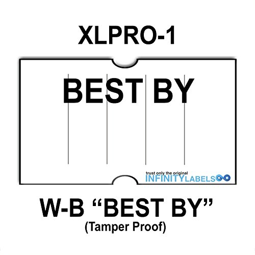 240,000 XLPro 2112 compatible ''Best By'' White General Purpose Labels to fit the XLPRO-1 (1) Price Guns. Full Case. Ink rollers not included. by Infinity Labels
