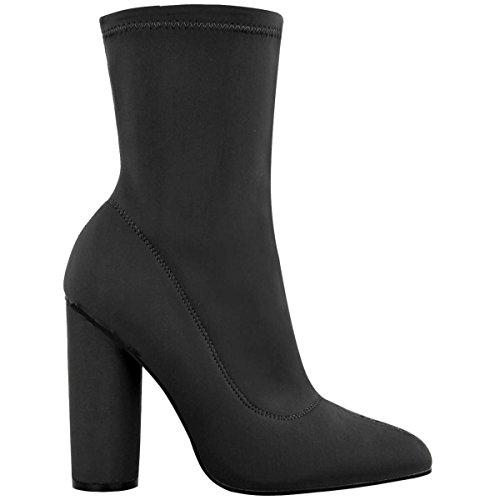 Shoesdays ,  Damen Durchgängies Plateau Sandalen mit Keilabsatz Schwarz