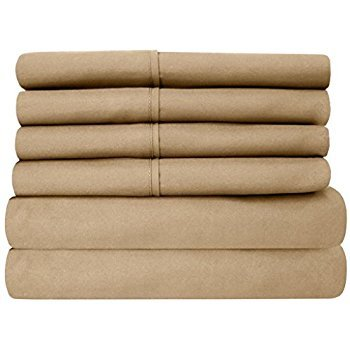 Rajlinen Luxury 600-Thread-Count Sateen RV/Camper Sheet Sets Made specifically for Campers, RVs, Travel Trailers & Motorhome mattresses (Taupe Solid, Short Queen 60