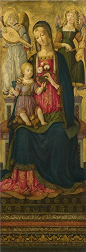 Oil Painting 'Benvenuto Di Giovanni - The Virgin And Child (1),1479', 18 x 52 inch / 46 x 133 cm , on High Definition HD canvas prints is for Gifts And Kids Room, Powder Room And Study Room Decoration (Halloween Art For Second Graders)