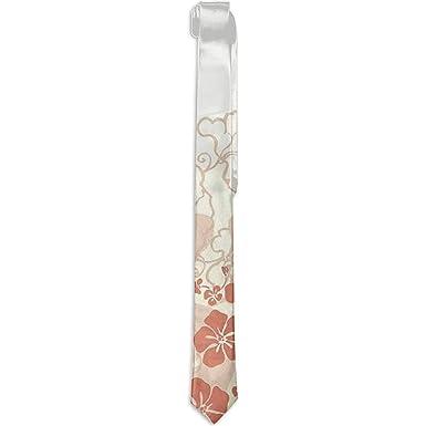 Warm Night Corbata floral estampada para hombres, silueta de ...
