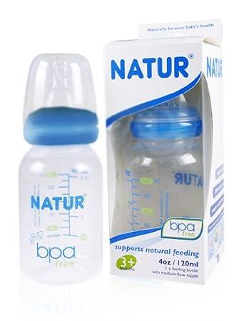 Amazon.com : 3x Natur Anti-colic Baby Milk Bottles Size S Blue 4 ...