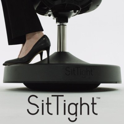 SitTight - Balanced Active Sitting chair - For Home or Office - works with standard desk or standing/standup desk - Don't just sit there...sit tight ! (Chairs Sitting)