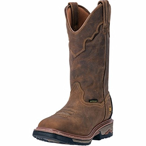 Dan Post Men's Blayde Waterproof Wellington Work Boot Steel Toe Saddle Tan 16 EE US