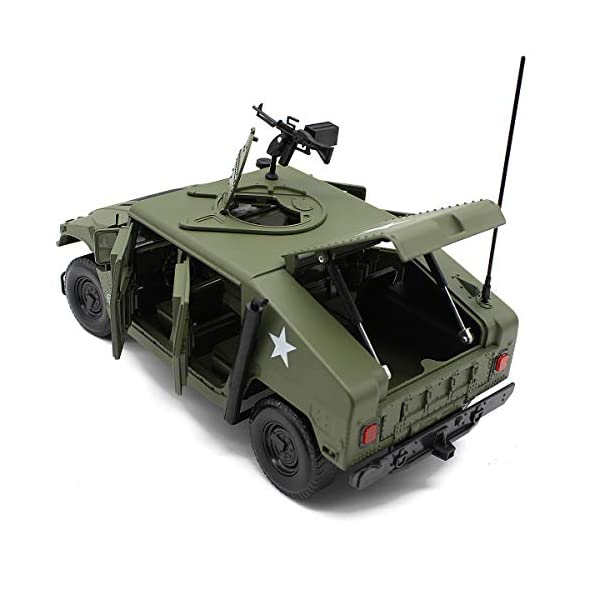 Fisca 1/18 Scale Model Car Metal Diecast Military Armored Vehicle Battlefield Truck 3