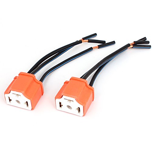 sourcingmap 2pcs H4 Bulb Socket Wire Harness Cable Connector: