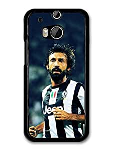 Andrea Pirlo Striped T shirt Italian Football case for HTC One M8 A7103 by ruishername