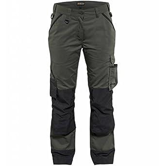 Pantalones De Trabajo Para Mujer Color Verde Y Negro Talla C44 Amazon Es Industria Empresas Y Ciencia