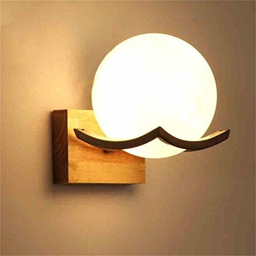 SMC wall lamp Wood Lamp Bedside Lamp Wall Lamp Modern Minimalist Wall Lamp Solid Wood Wall Lamp Log Color Japanese Lamp